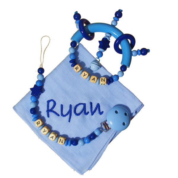 Geschenkset mit Greifling blau