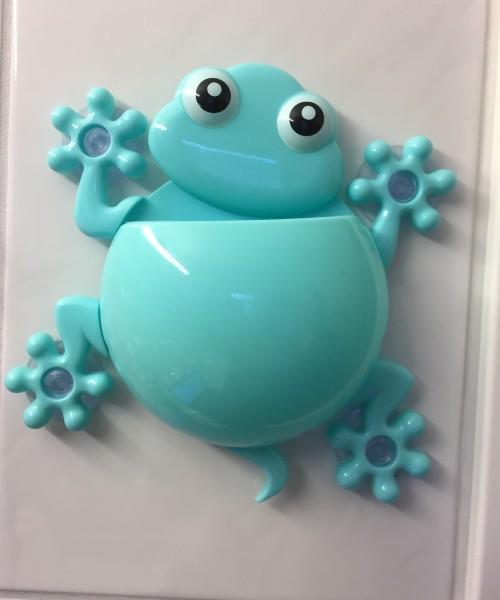 Zahbürstenhalter Frosch blau