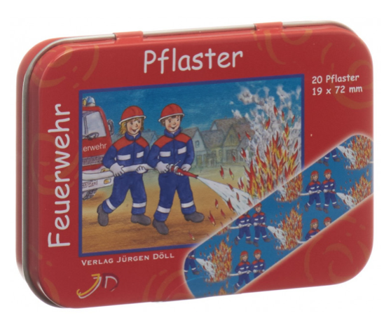 Pflasterdose Feuerwehr
