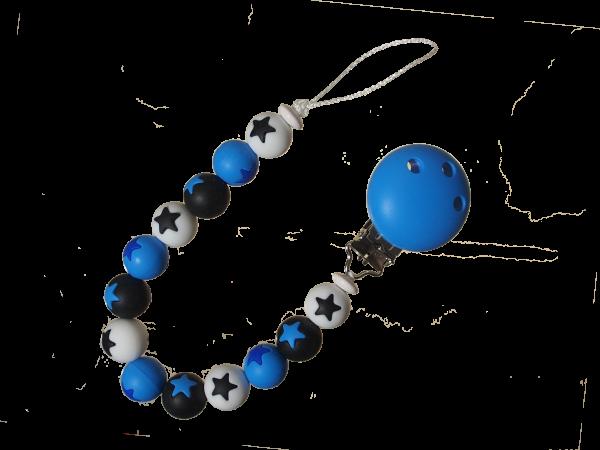 Sternen-Nuggikette blau-schwarz