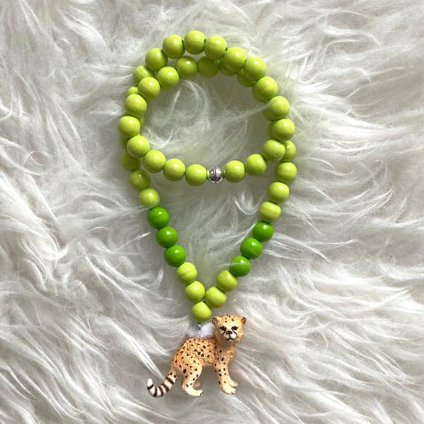 Halskette Leopard grün