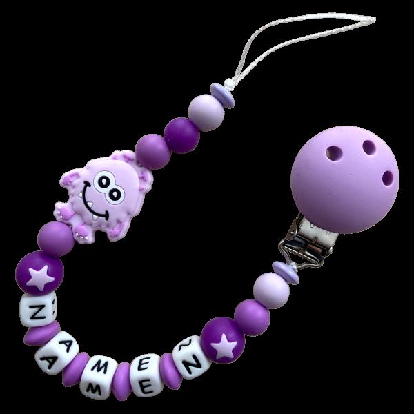 Silikon Nuggiketteli Monster lila