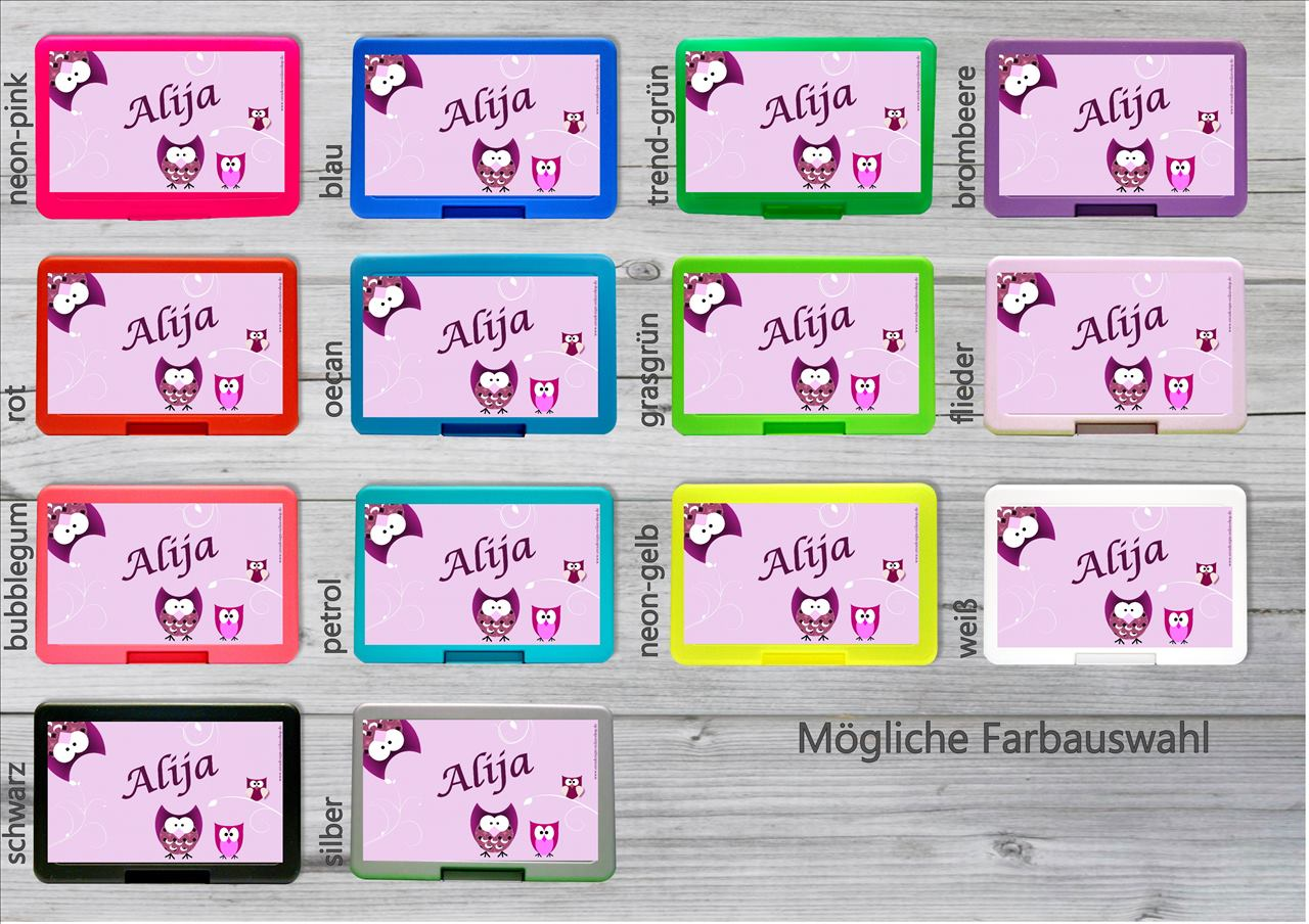 zn nibox eulen lila zn nib xli personalisiertes. Black Bedroom Furniture Sets. Home Design Ideas