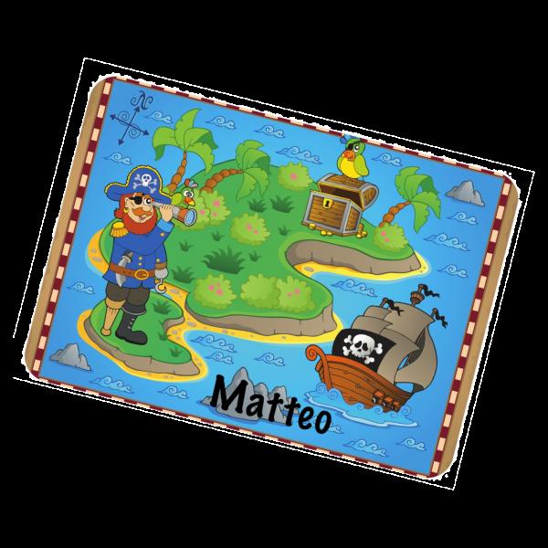 Tischset Piratenkarte