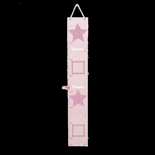 Messlatte rosa mit Sternen