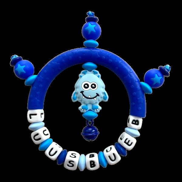Silikon Greifling Monster blau