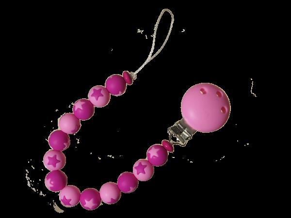 Sternen-Nuggikette pink-rosa
