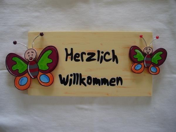Türschild Schmetterling