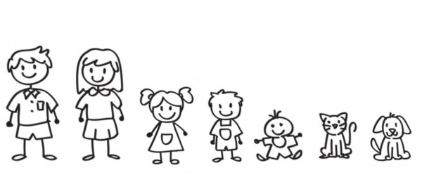 Familien Aufkleber 7 Personen