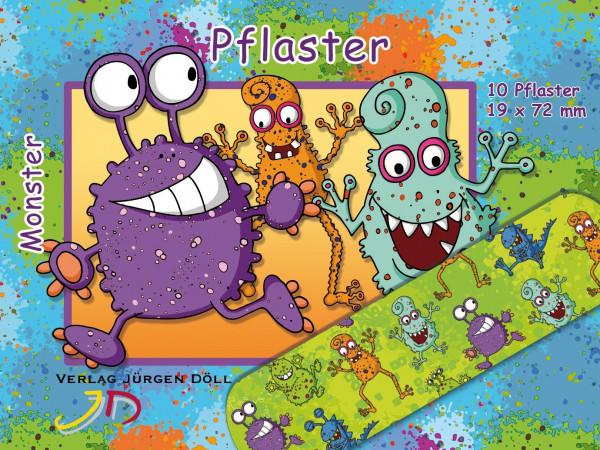 Pflasterbriefchen Monster