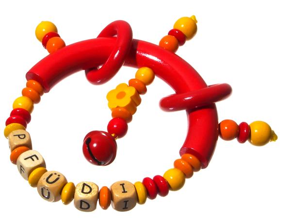 Greifling Modell Pfüdi rot/gelb