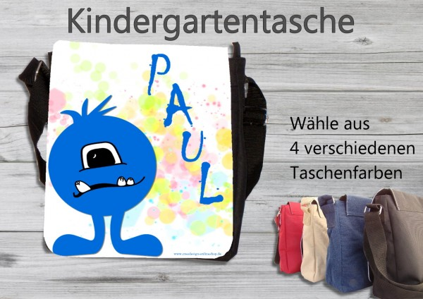 Kindergartentasche Monster blau
