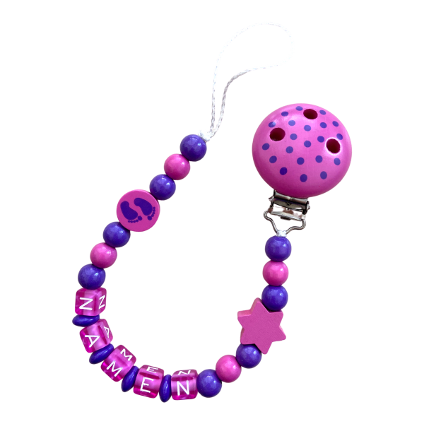 Nuggiketteli Füessli lila/pink