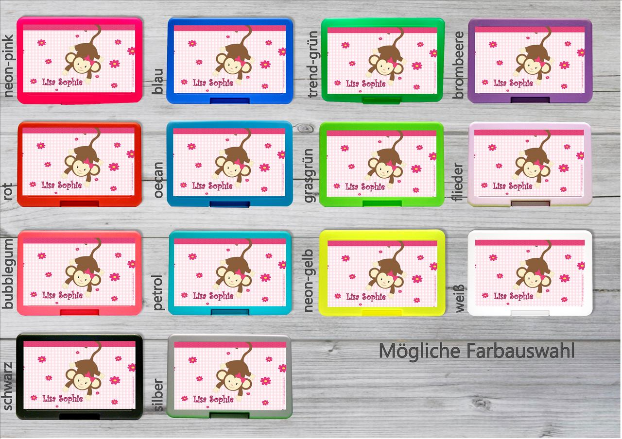 zn nibox affe zn nib xli personalisiertes nuggiketteli. Black Bedroom Furniture Sets. Home Design Ideas