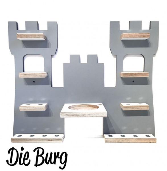 Burg- Regal für die bunte Musikbox