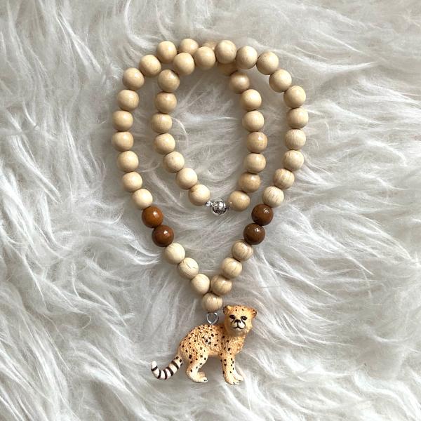 Halskette Leopard beige