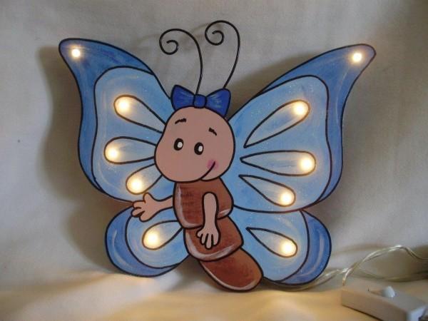 Schlummerlampe Schmetterling blau