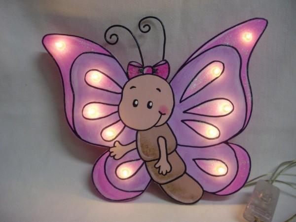 Schlummerlampe Schmetterling rosa