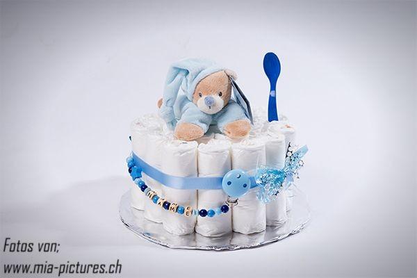 windeltorte blau klein windelgeschenke geschenkideen nuggiketteli. Black Bedroom Furniture Sets. Home Design Ideas