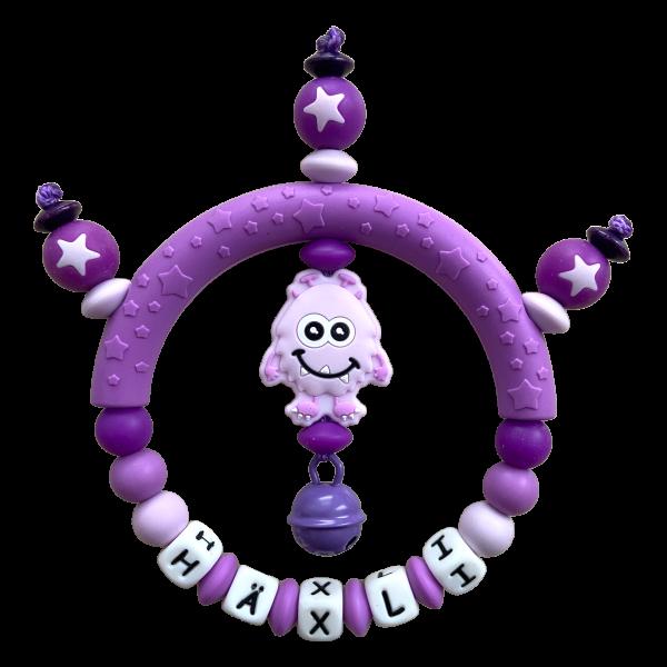 Silikon Greifling Monster lila