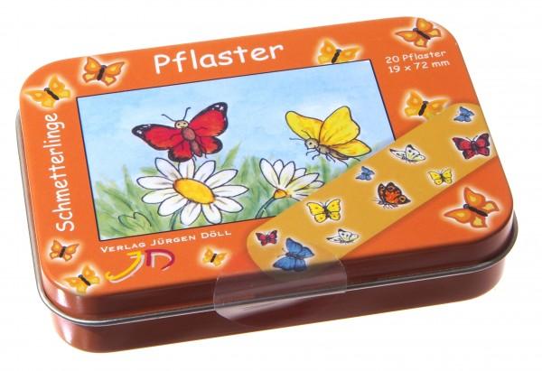 Pflasterdose Schmetterlinge