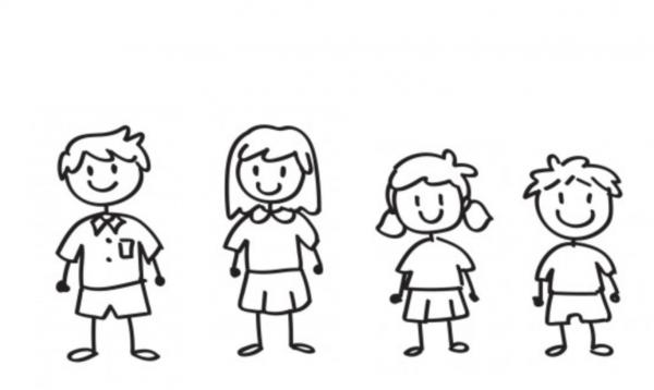 Familien Aufkleber 4 Personen