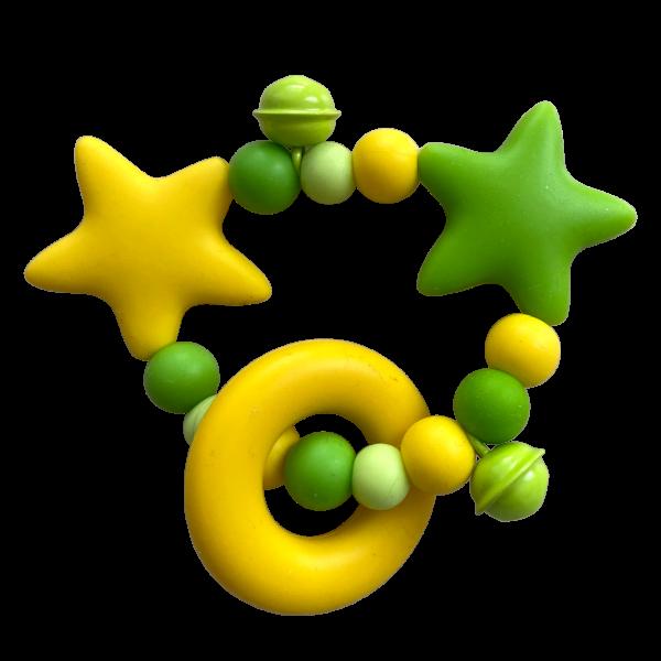 kleiner Greifring gelb/grün