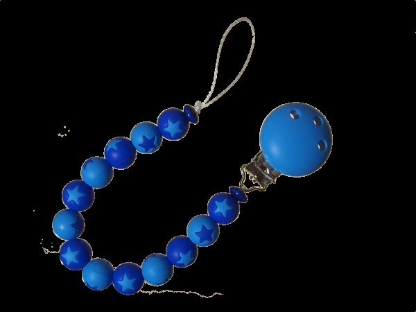 Sternen-Nuggikette blau