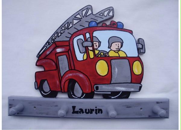 Garderobe Feuerwehrauto