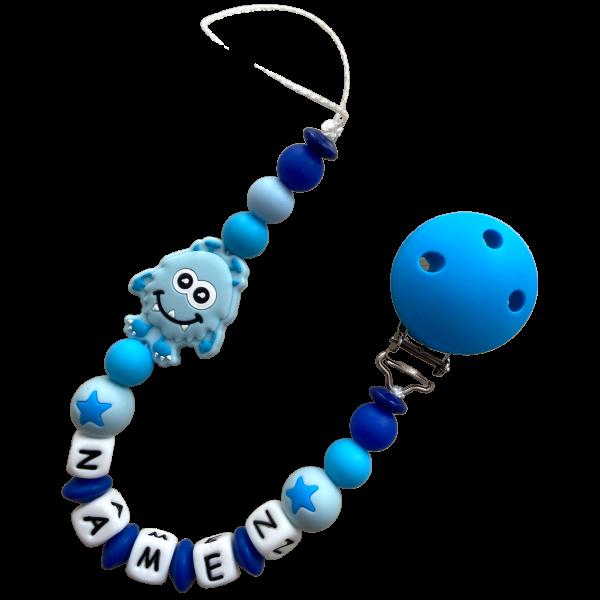 Silikon Nuggiketteli Monster blau