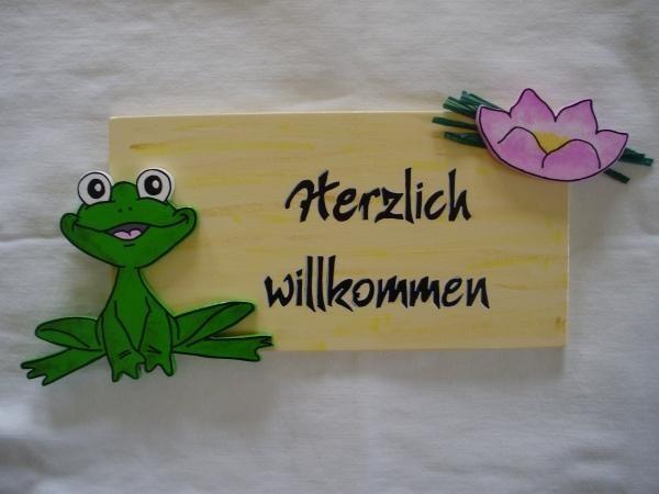 Türschild Frosch