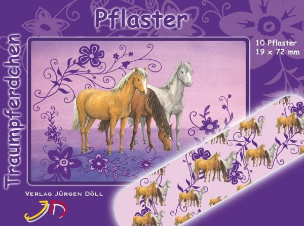 Pflasterbriefchen Pferde lila