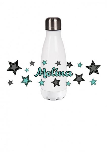 Thermosflasche klein Sterne mint/grau