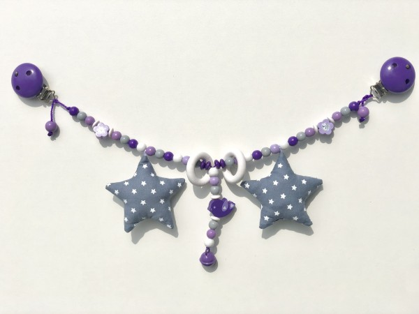 Kinderwagenkette lila/violet Vögeli
