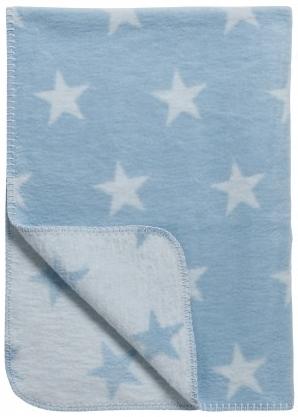 Baumwoll Kuscheldecke Sternen blau