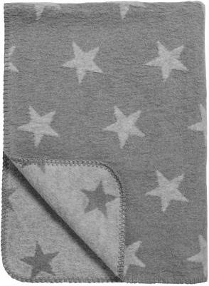 Baumwoll Kuscheldecke Sternen grau