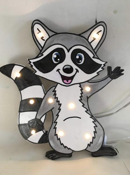 Schlummerlampe Waschbär