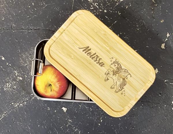 Snackbox mit Bambusdeckel