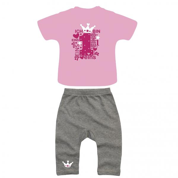 Geburtstags Outfit grau/rosa