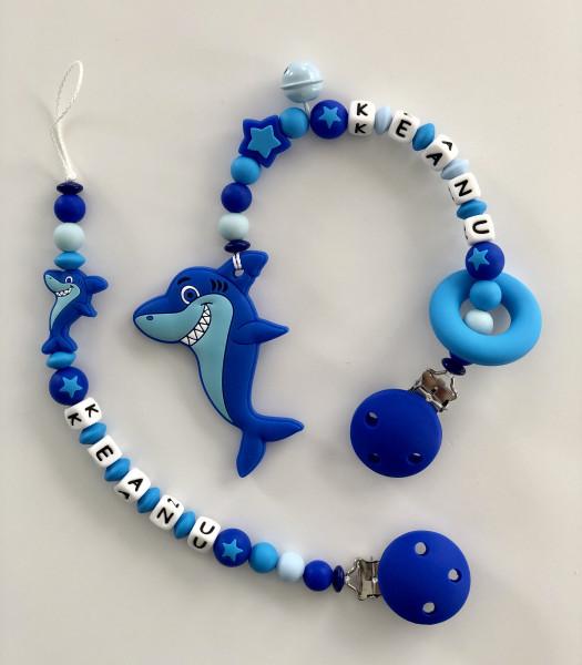 Geschenkset Hai (Nuggikette&Beisskette)
