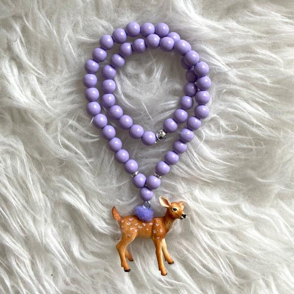 Halskette Reh lila