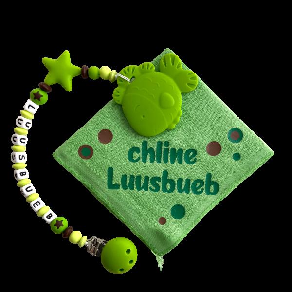 Beisskette/Nuschi Set grün