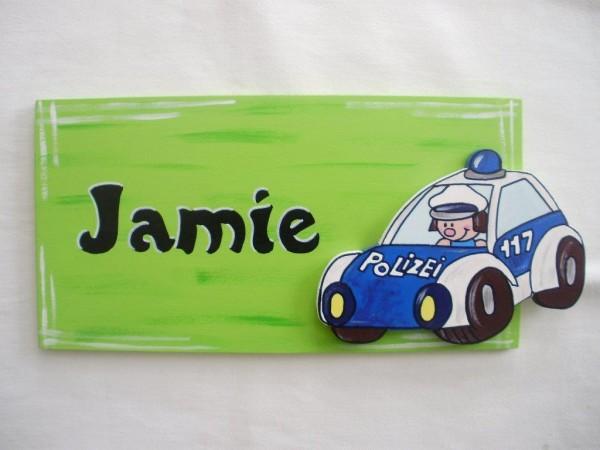 Türschild Polizei Auto
