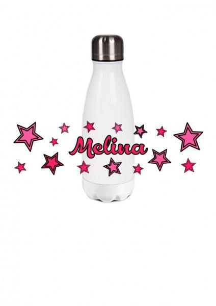 Thermosflasche klein Sterne rosa/pink