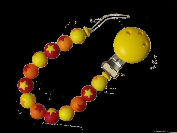 Sternen-Nuggikette gelb-orange-rot