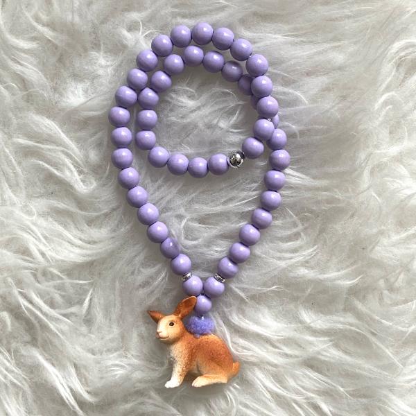 Halskette Hase lila